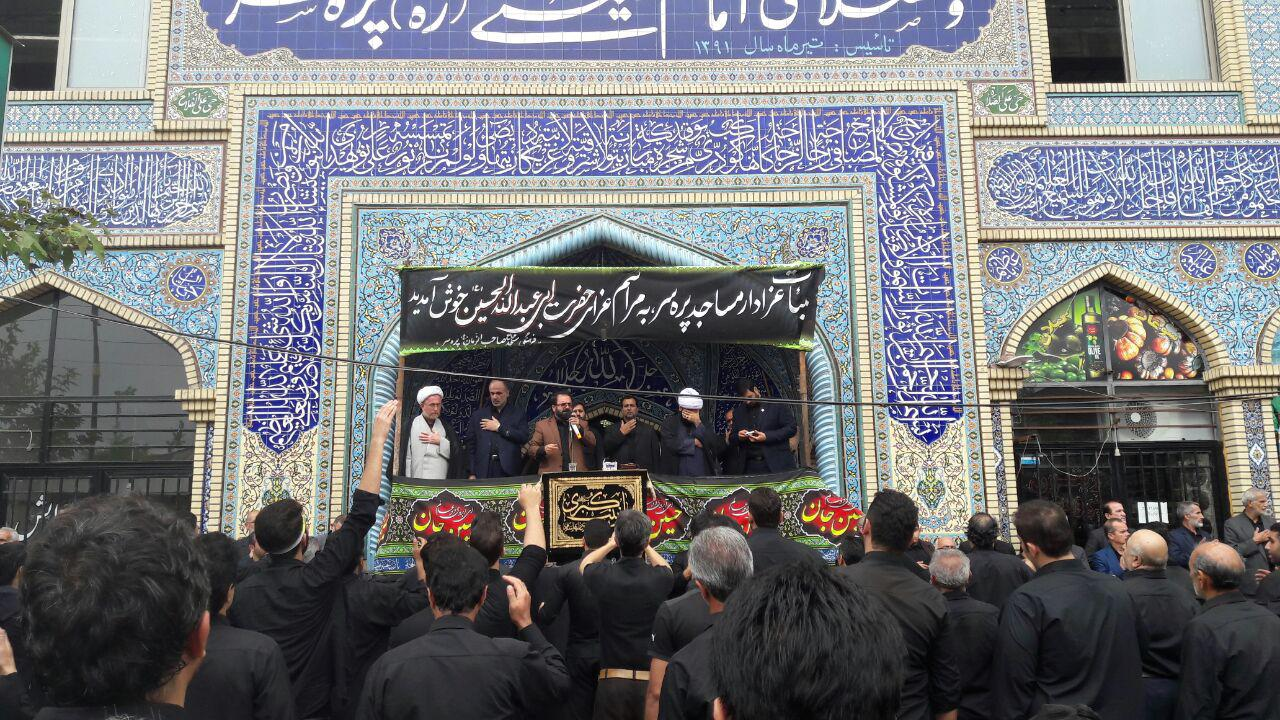 حضور مشاور معاون وزیر نفت در مراسم عاشورای حسینی پره سر