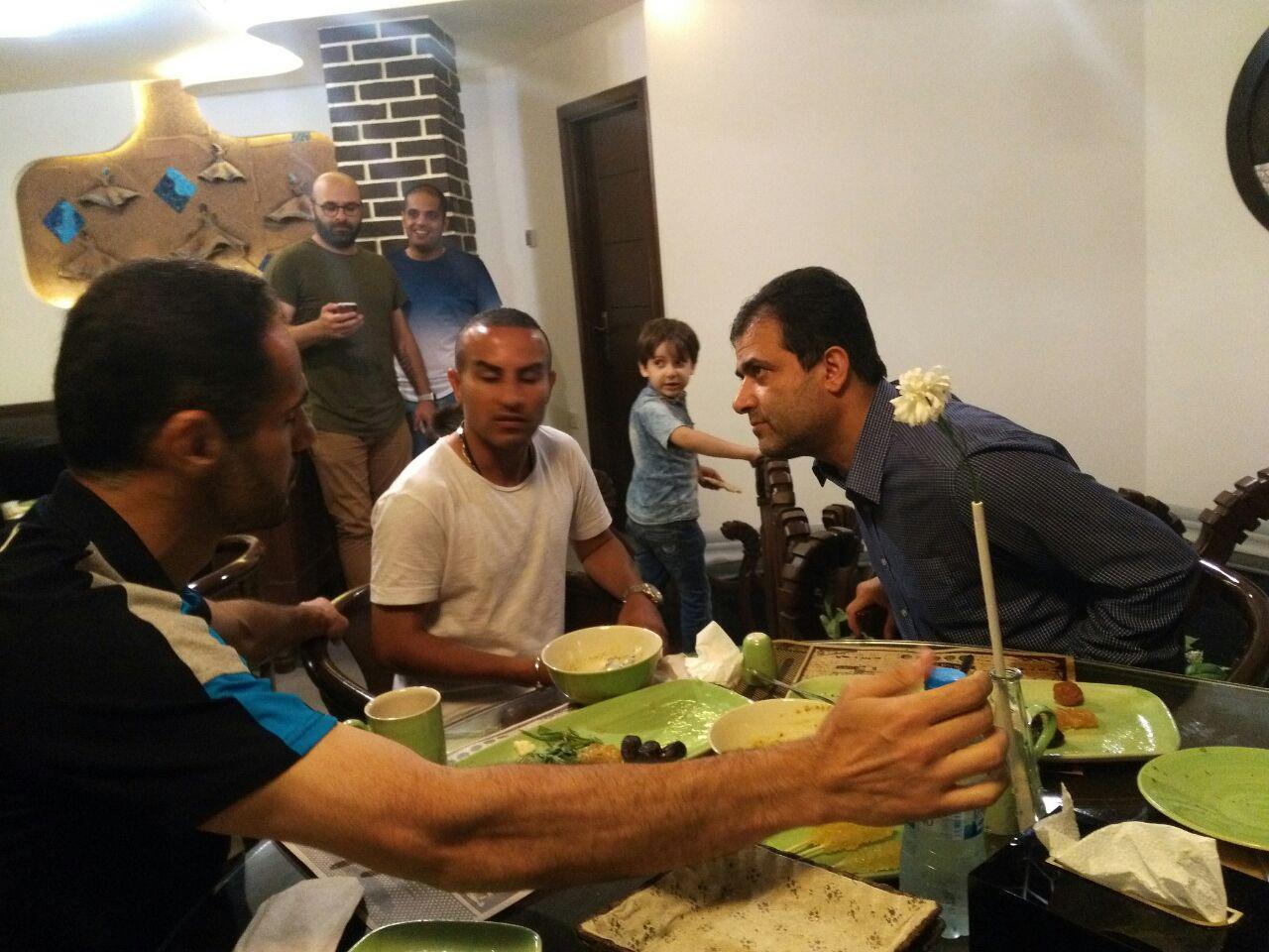 اختصاصی/گزارش تصویری ضیافت افطاری بازیکنان سپیدرود در رشت