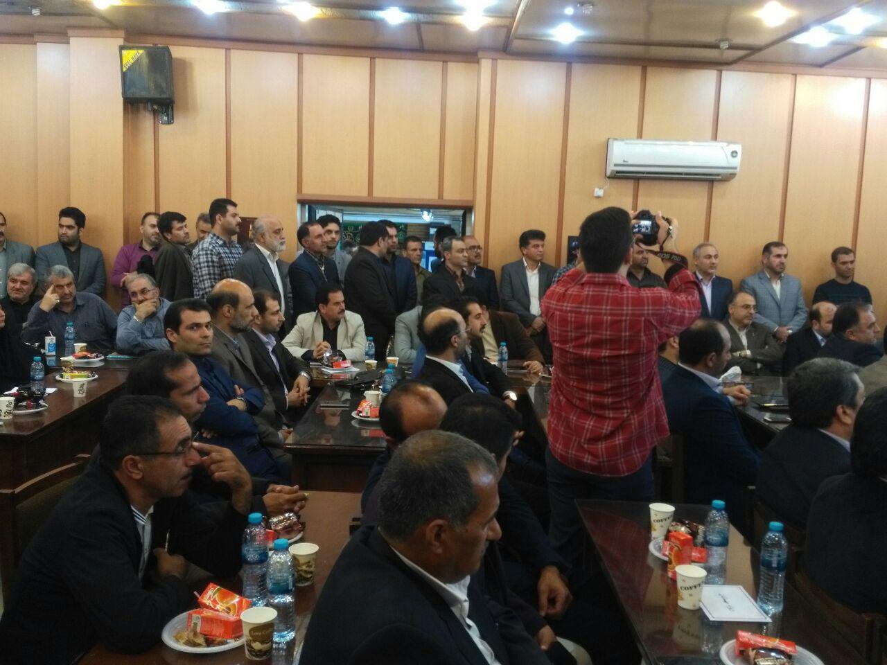 ازدحام جمعیت معارفه رییس سازمان صنعت گیلان مهر 96